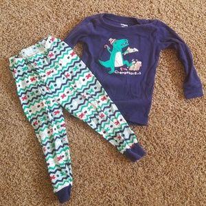 Christmas dinosaur pajamas